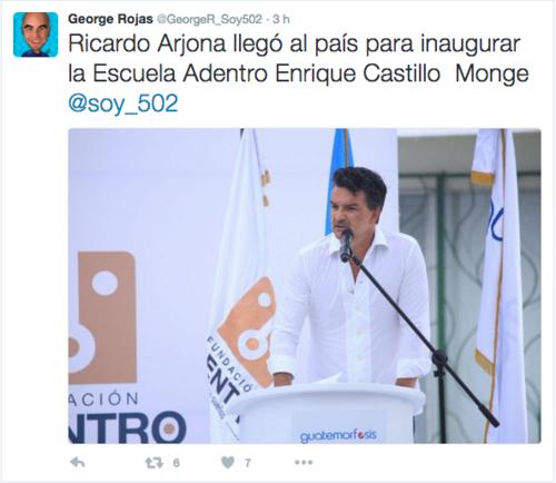 Esta es la segunda escuela que Ricardo Arjona abre en el país. Foto: Tomado de Twitter)