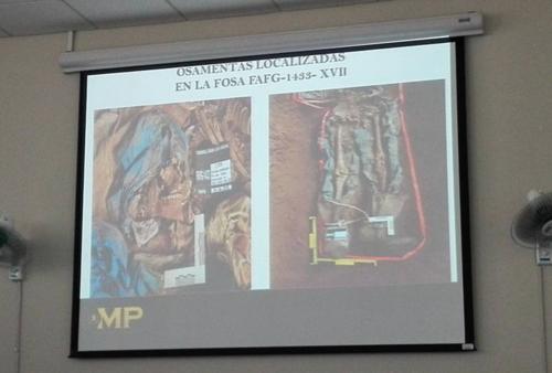 Las osamentas también mostraban rastros de tortura y heridas de arma de fuego. (Foto: Marcia Zavala/Soy502)