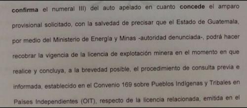 La CC ordenó que se suspenda la licencia minera hasta hacer la consulta en San Pedro Ayampuc y San José del Golfo.