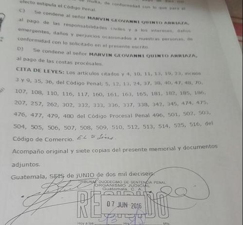 La denuncia ante el Ministerio Público se realizó el pasado 6 de junio. (Foto: Archivo/Soy502)
