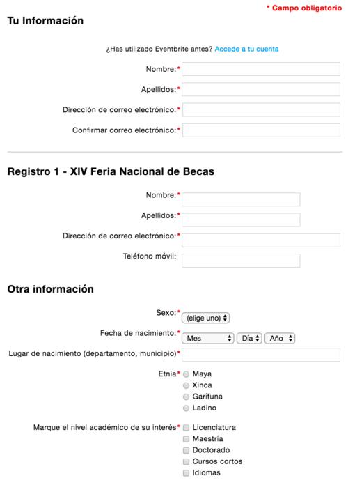 Esta es una parte del formulario que te solicitan que llenes. (Imagen: captura de pantalla)