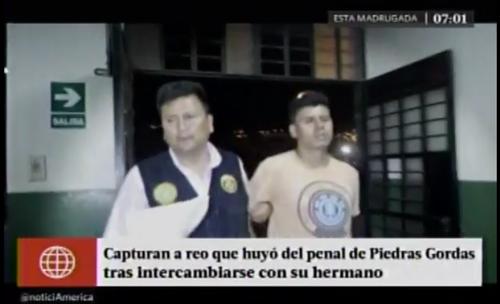 Giancarlos Delgado había logrado una exitosa huida pero esta solo le duró unas cuantas horas. (Imagen: Captura de pantalla)