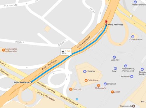 Este es el tramo en el que se empezará a trabajar la ampliación de carriles hacia el norte  de la ciudad.