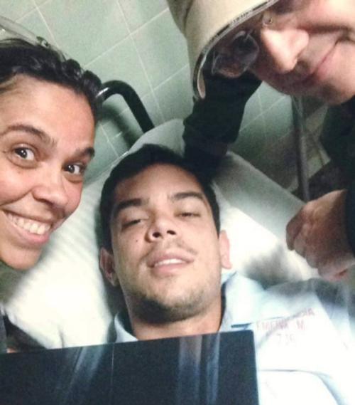 Rodrigo solo presenta algunos golpes y deshidratación. (Foto: Facebook)
