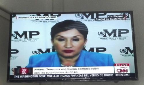 La fiscal fue entrevistada en CNN por el proceso de extradición de Roxana Baldetti. (Foto: Soy502)