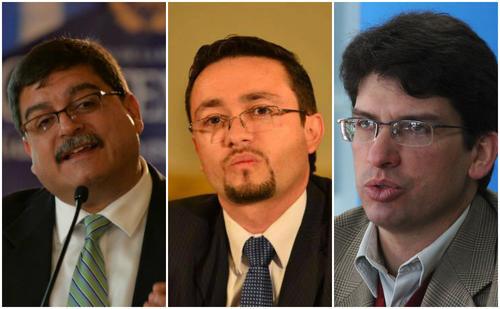De izq. Quique Godoy, Elmer Beltetón y Rubén Morales. (Foto: Soy502)
