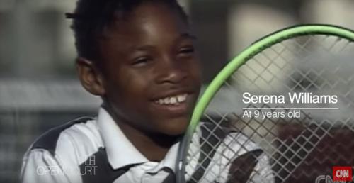 Serena Williams, siendo apenas una niña.