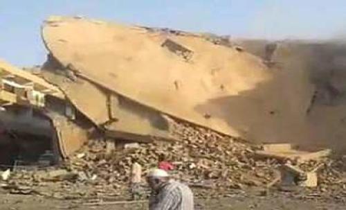 Imagenes captadas luego de la caída del mortero. (unita.it)