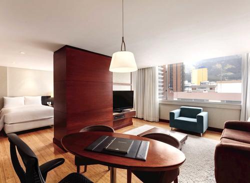 Suite del hotel donde se hospedó el presidente (Imagen: Hilton Hotels)