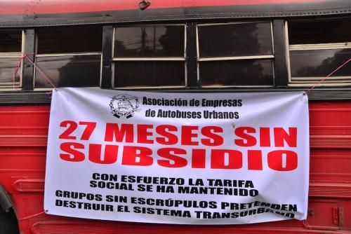 El subsidio al transporte público se ha convertido en un foco de corrupción. (Foto: Wilder López/Archivo Soy502)