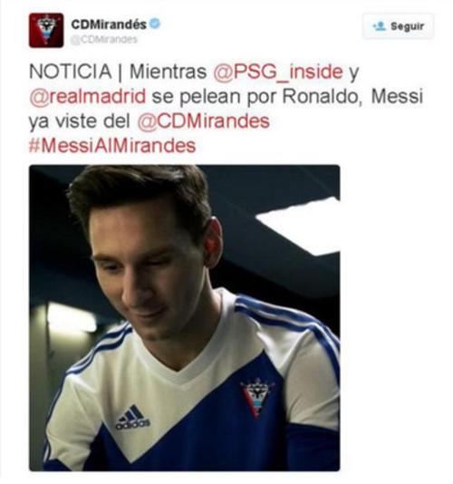 Imagen Messi Mirandés