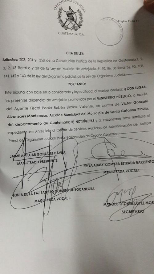Resolución de Sala Tercera de la Corte de Apelaciones.