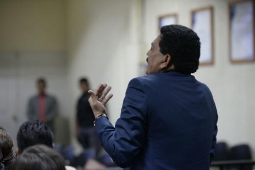 Francisco García Gudiel, defensa de Edin Barrientos. (Foto: Wilder López/Soy502)