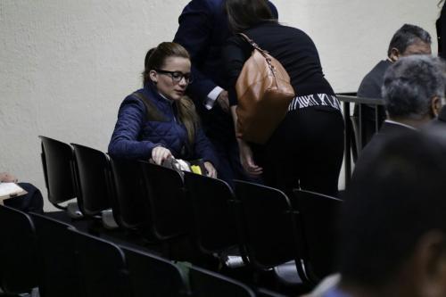 Daniela Beltranena permanece en prisión preventiva y ha participado en todas las jornadas de la audiencia donde declara Eco. (Foto: Alejandro Balán/Soy502)