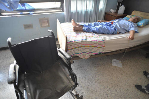 Francisco Loaiza Chacón de 66 años lleva ocho meses en el hospital. (Foto: Wilder López/Soy502)