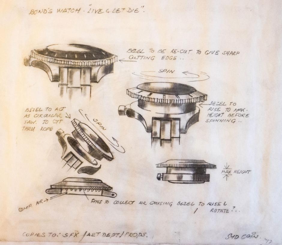 El bosquejo original para modificar el reloj. (Foto: Google)