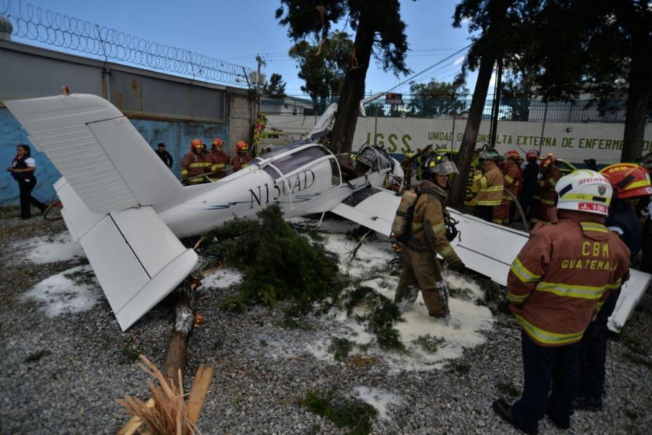 La aeronave monomotor tenía destino final en las playas de Monterrico. (Foto: Wilder López/Soy502)
