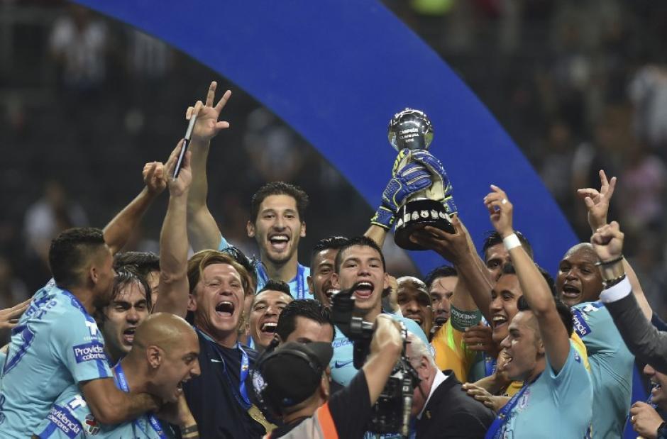 El Pachuca venció a Monterrey en la final del fútbol mexicano. (Foto AFp)