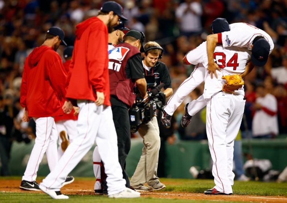Jugadores de los Medias Rojas de Boston