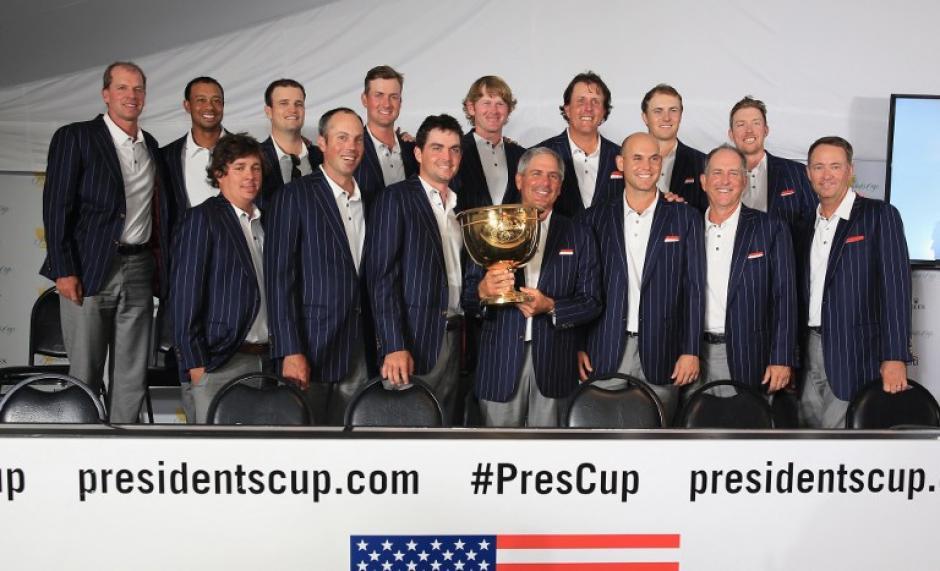 El equipo de golf de Estados Unidos se llevó la Copa Presidente, uno de los torneo de mayor importancia en este deporte. (AFP)