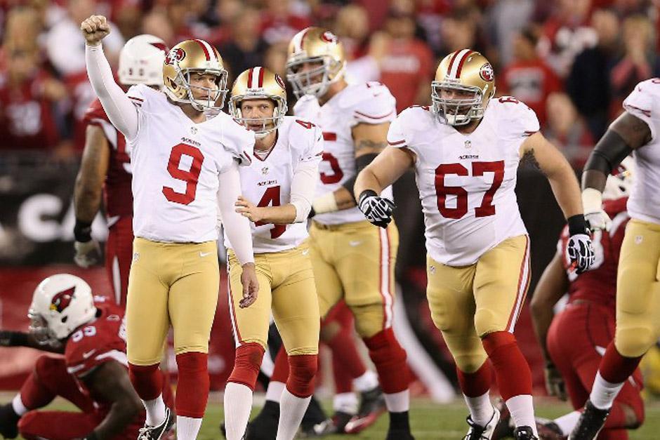 Los 49ers de San Francisco celebras tras derrotar a los Cardinals de Arizona