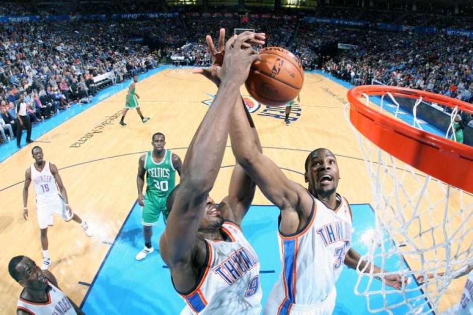 El Thunder de Oklahoma superó a los Celtics de Boston. (AFP)