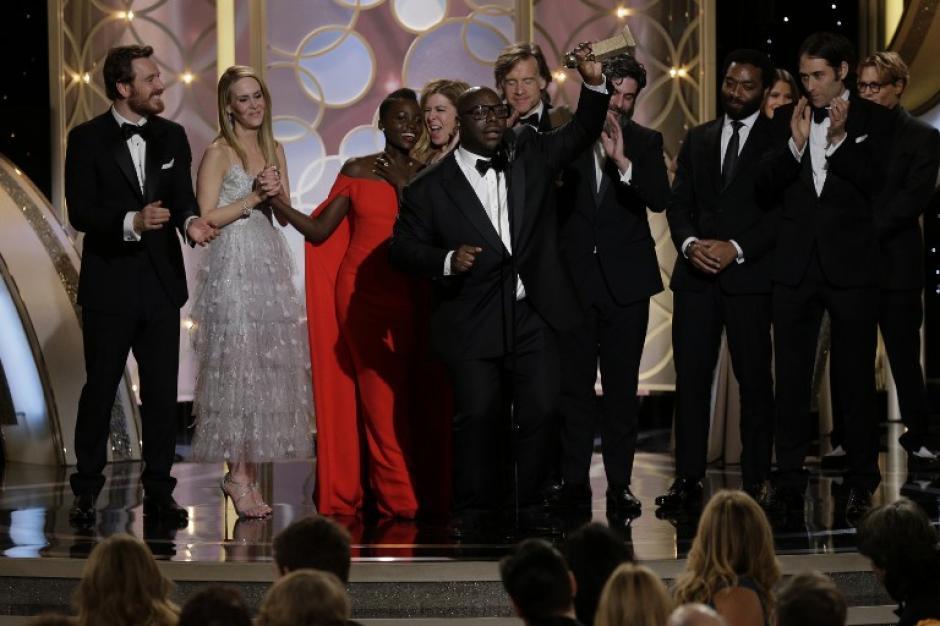 """""""12 year slave"""" fue la película ganadora de la noche. (Foto: AFP)"""