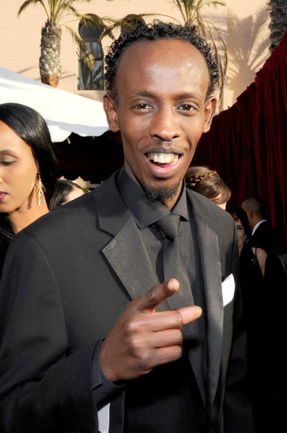 Barkhad Abdi conducía un taxi hace unos meses y ahora está nominado a un Screen Guild Actors Awards y a un Oscar, por su actuación en la película Captain Phillips. (AFP)