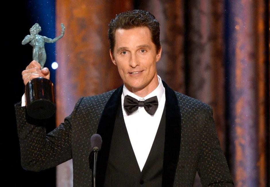 """Matthew McConaughey se llevó la estatuilla del mejor actor por su actuación en """"Dallas Buyers Club"""". (AFP)"""