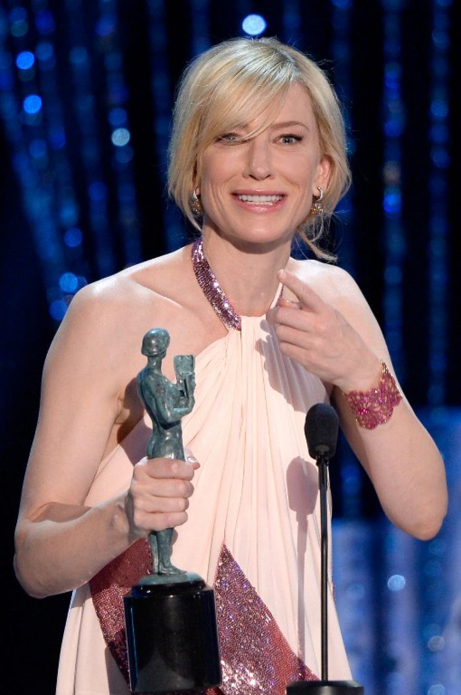 """La talentosa Cate Blanchett fue la mejor actriz por la película """"Blue Jasmine"""". (AFP)"""