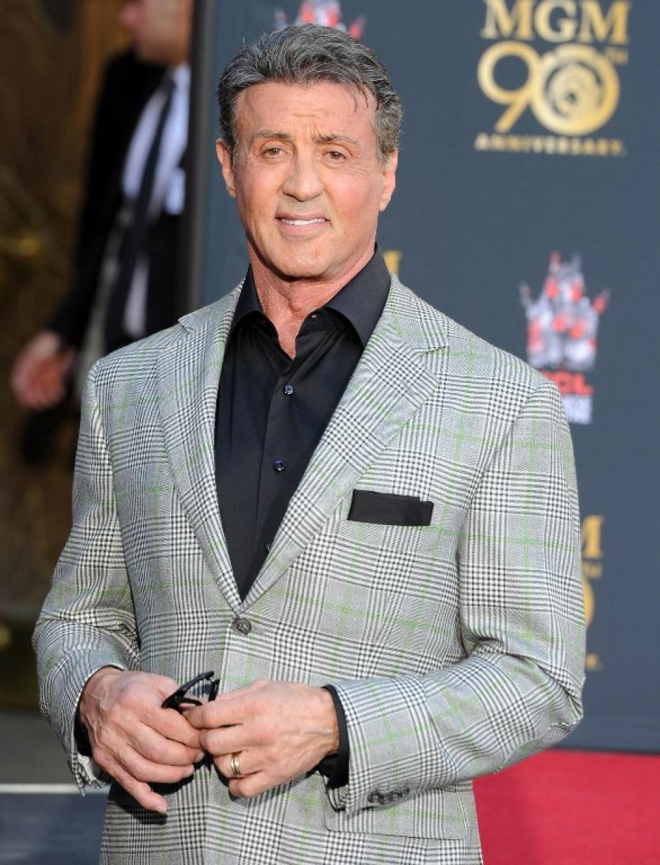 Sylvester Stallone actor estrella de la Metro Goldwyn Mayer por la saga de Rocky, fue invitado especial a la ceremonia. Foto AFP