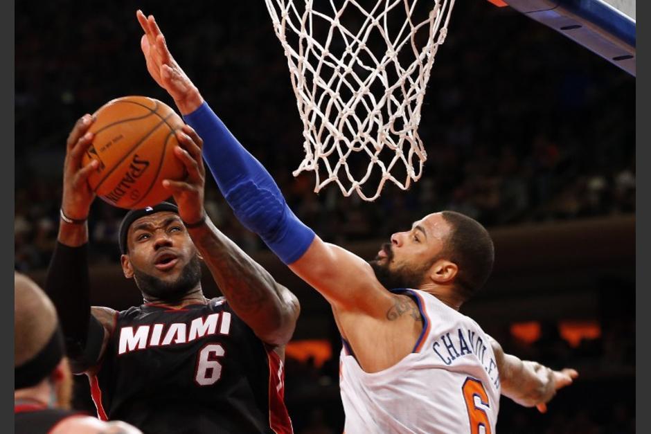 LeBron James anotó 30 puntos en la victoria de los Heat sobre los Knicks