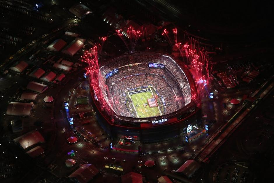 Vista aérea del MetLife Stadium, en New Jersey, escenario del Super Bowl por primera vez. (Foto: EFE)