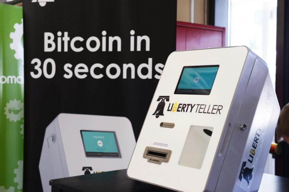 Una estación de bitcoin recientemente instalada en la ciudad de Boston, Massachusetts. (Foto: AFP)
