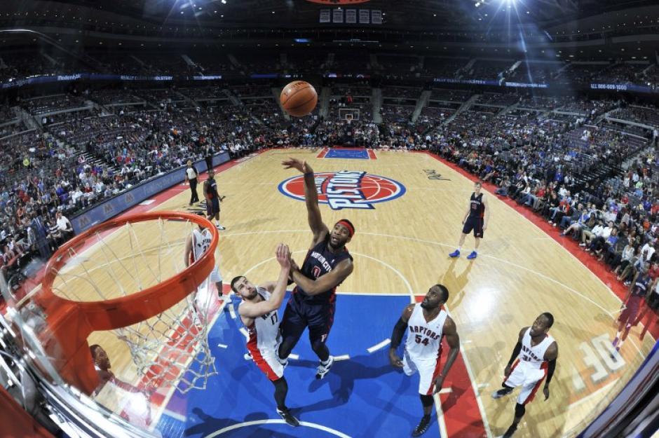 Los Raptors vencieron 116-107 a los Pistons de Detroit. (Foto: AFP)