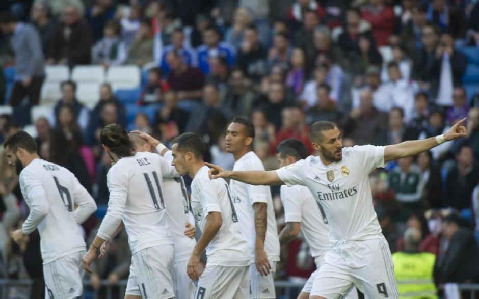Benzema regresó con doblete tras un escándalo en el que estuvo envuelto. (Foto: AFP)