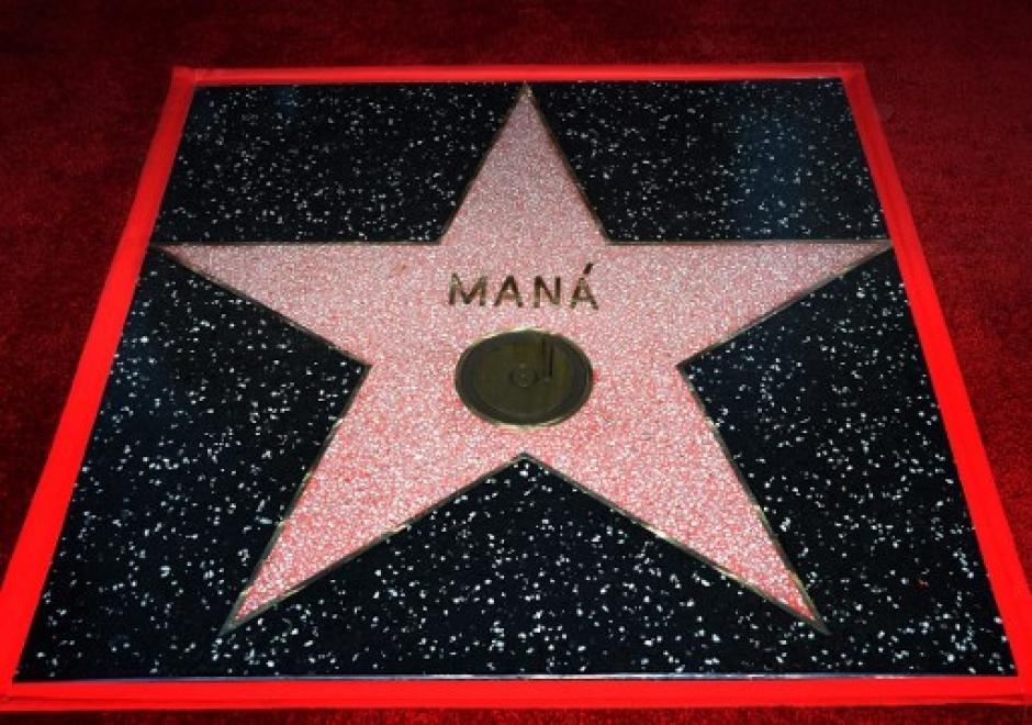La estrella de Maná se encuentra en el Paseo de Fama de Hollywood (Foto: AFP)