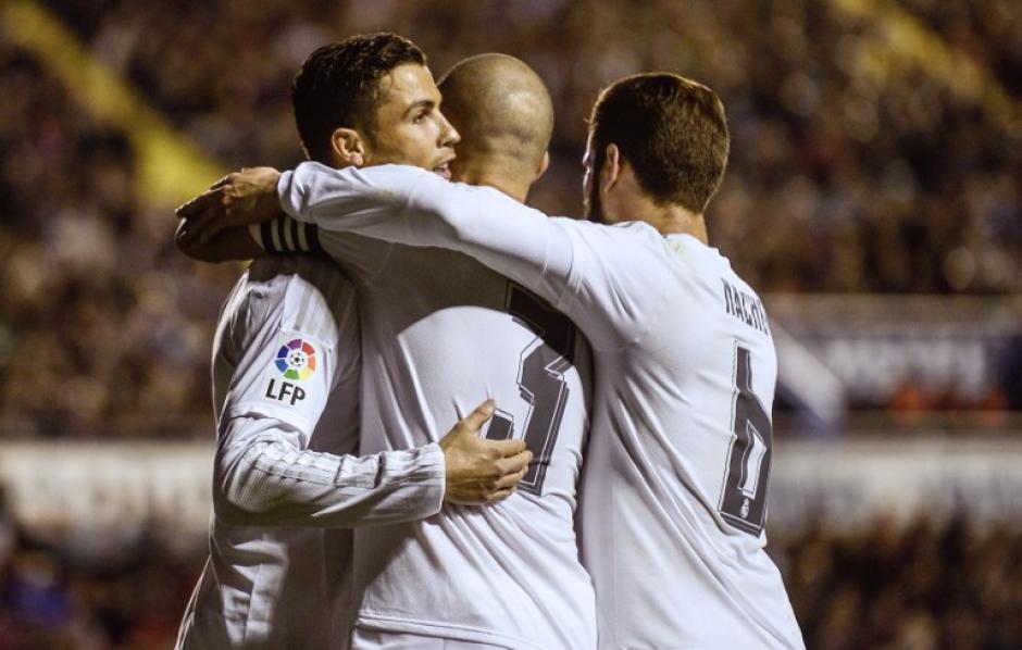 Real Madrid ganó con algunas dificultades al Levante; en la jornada 27 de la Liga española. (Foto: AFP)