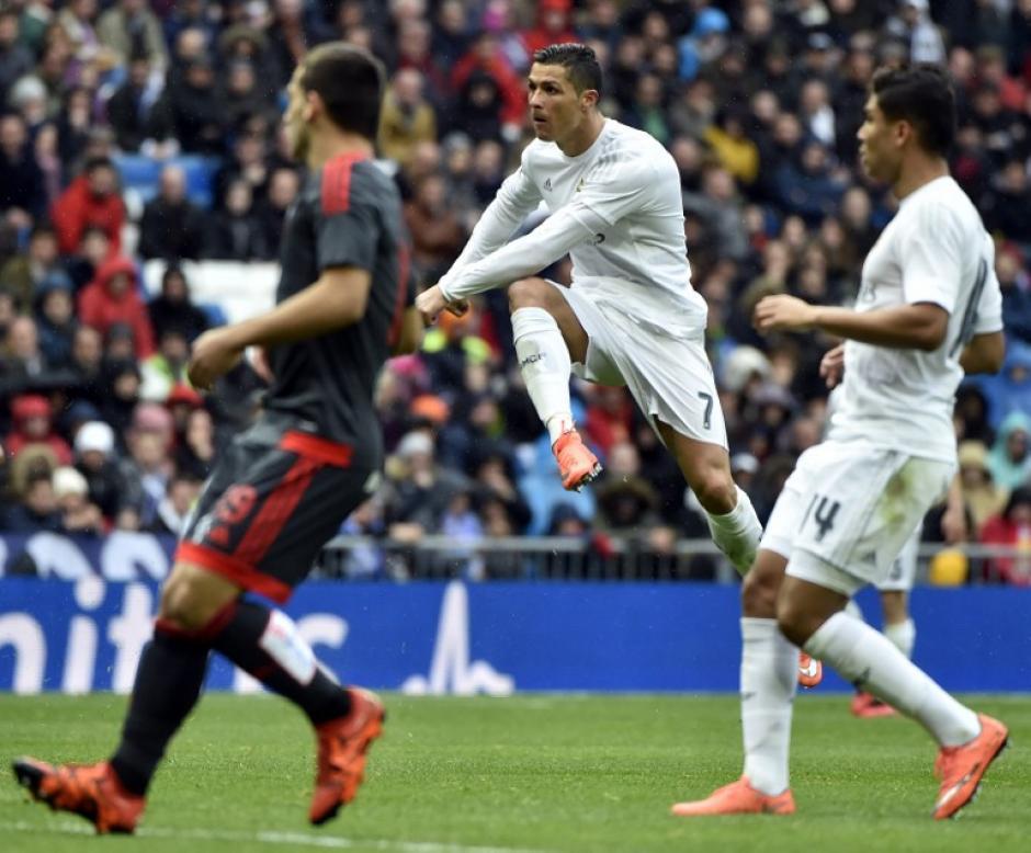 El portugués se colocó en el liderato de la Liga española, con 26 goles uno más que Luis Suárez. (Foto: AFP)