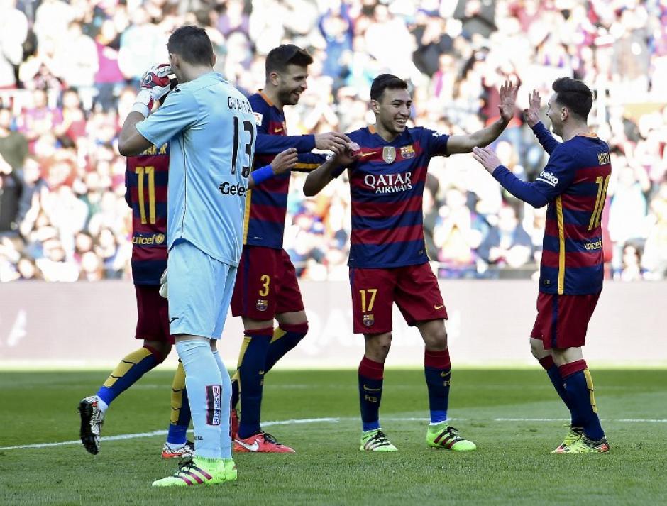 Recital ofensivo de Barcelona; Luis Suárez estuvo en la banca.  (Foto: AFP)
