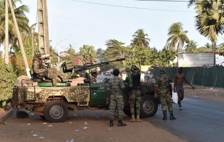 Un fuerte dispositivo de seguridad se instaló en el lugar. (Foto: AFP)