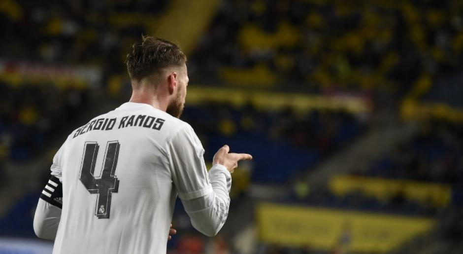 Sergio Ramos anotó el primer gol de Real Madrid ante Las Palmas. (Foto: AFP)