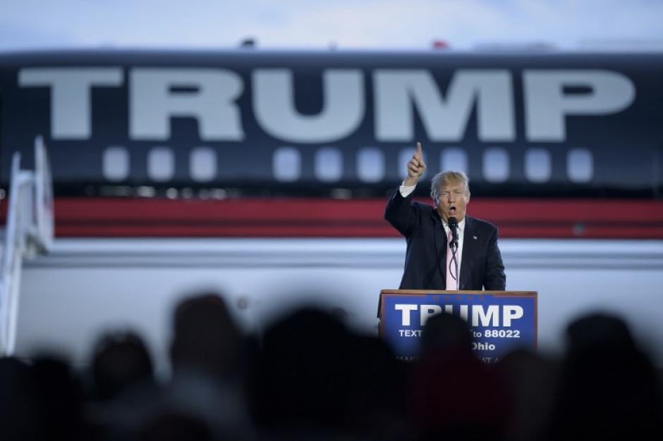 """Donald Trump afirma que Hillary Clinton """"es errática y violenta"""". (Foto: AFP)"""
