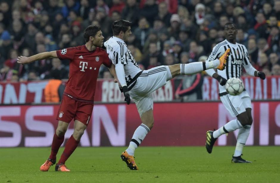 Morata puso un pase de gol ante el Bayern que asombró a todos