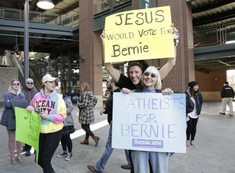 Los simpatizantes de Sanders. (Foto: AFP)