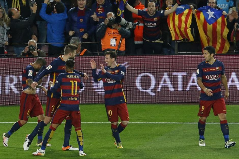 Barcelona se había adelantado en el marcador, con anotación de Gerard Piqué.  (Foto: AFP)