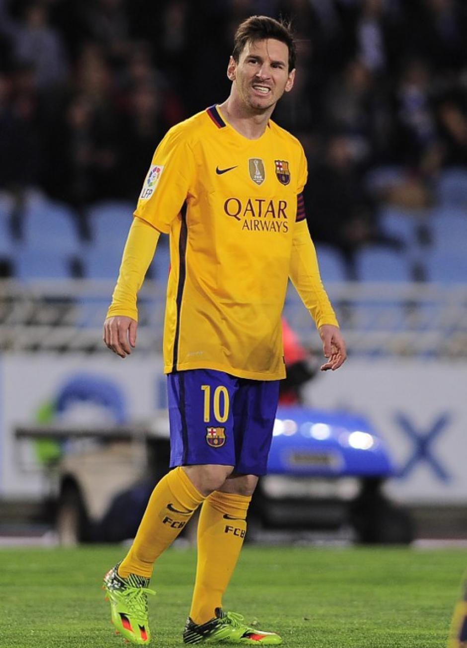 La cara de Messi lo dice todo. Impotencia por no poder concretar.  (Foto: AFP)