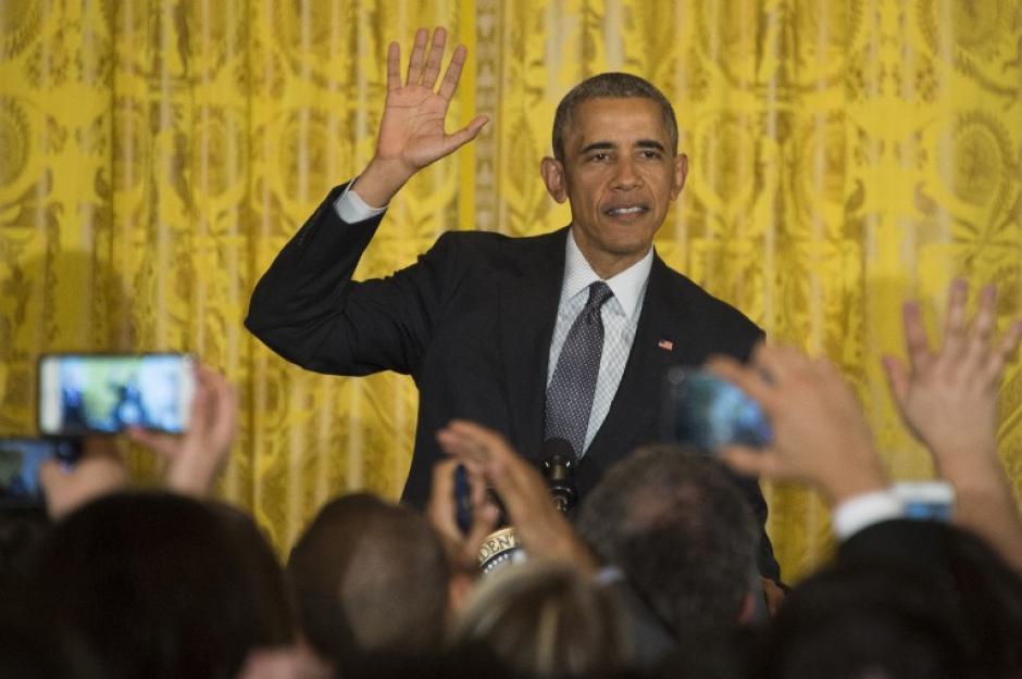 """""""¡Feliz cinco de Mayo!"""", gritó el presidente Barack Obama, en español (Foto: AFP)"""