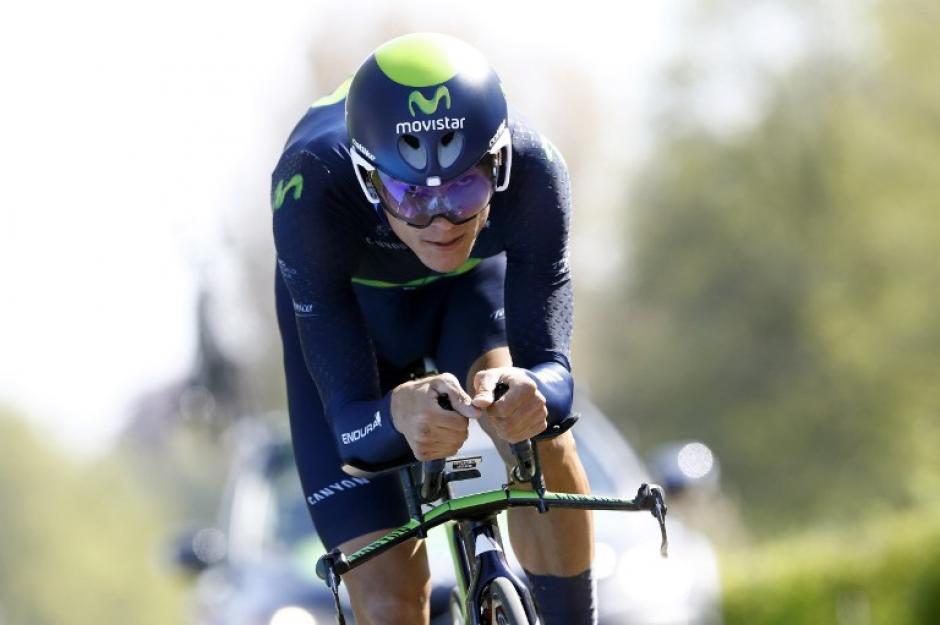 Andrey Amador hizo un tiempo final de 4:38:31, en la segunda etapa y está a seis segundos del líder general. (Foto: AFP)