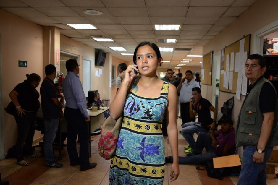 Olivia Zúñiga Cáceres es la hija de la ambientalista asesinada. (Foto: AFP)